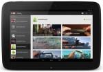 Aplicativo do Youtube para Android em um tablet.