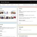 Aba que traz informações sobre o perfil/página distribuída em blocos. (clique para ampliar)