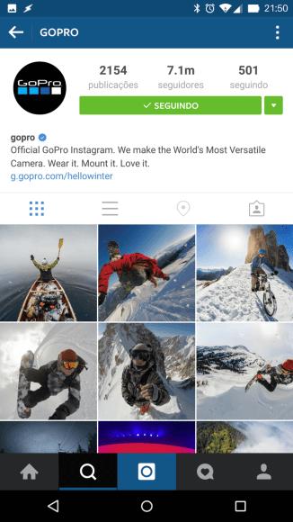 Instagram da GoPro