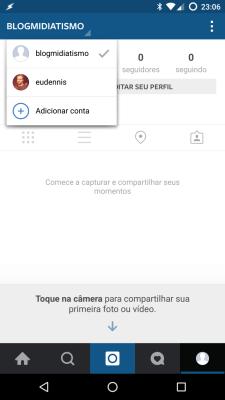 Utilizando múltiplas contas no Instagram