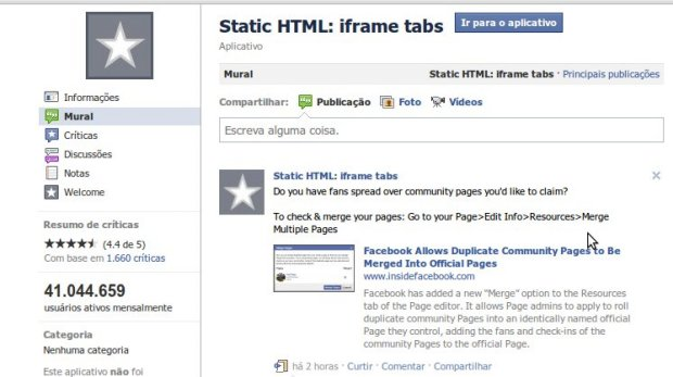 app statis html  7 aplicativos de abas para fan page do Facebook