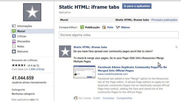 app statis html  7 aplicativos de abas para fan page do Facebook