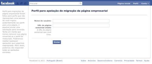 nova ferramenta facebook pagina perfil Teve problemas na migração Perfil data-recalc-dims=