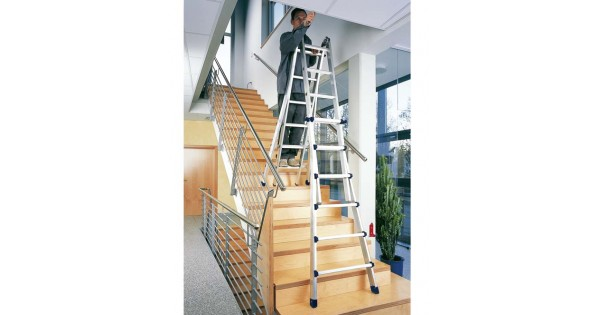 5 Rung Zarges Waku Telescopic Ladder Step