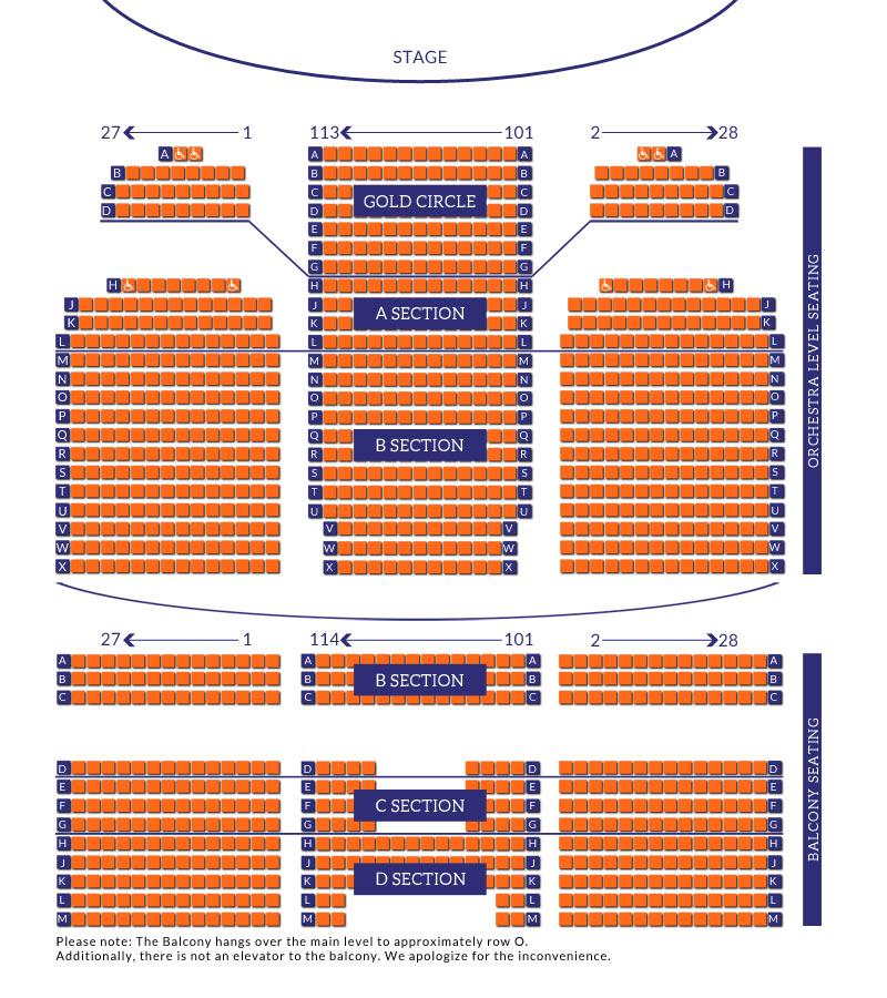 Midland Theatre - Seating Chart - seating chart