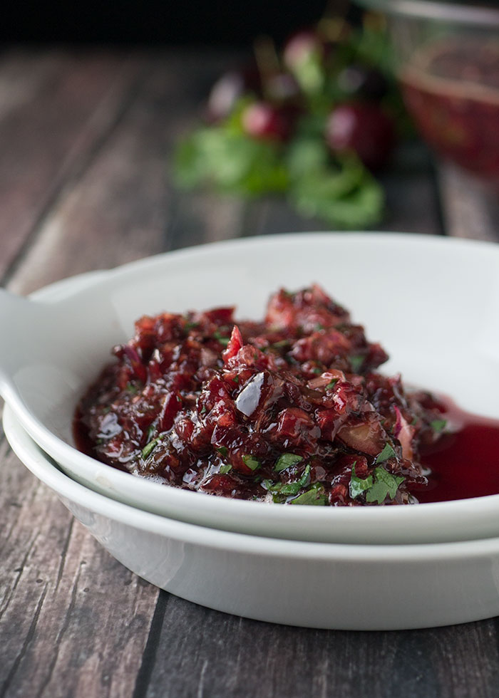 {Best Guest} Cherry and Roasted Serrano Salsa