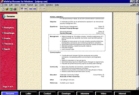 amazing winway resume deluxe contemporary simple resume office