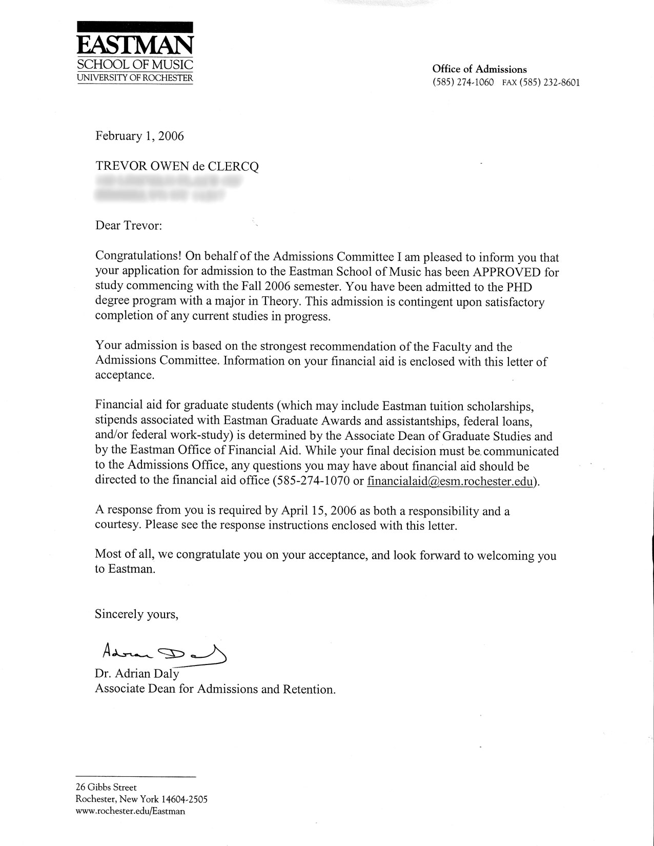 Acceptance Letters Recommendation Letter Sample For A Phd Student