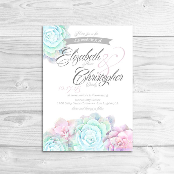 22 Gorgeous Succulent Wedding Invitations Mid-South Bride - brides invitation templates
