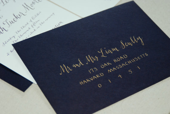 Wedding Calligraphy Envelope Addressing Great Etsy Sellers Who