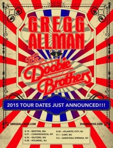 THE DOOBIE BROTHERS & GREGG ALLMAN ANNOUNCE LATE SUMMER CO-HEADLINING DATES