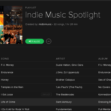 [UPDATE] Indie Music Spotify Directory
