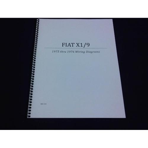 Fiat X19 Wiring Diagrams Manual (Fiat X19 1975-76) - NEW
