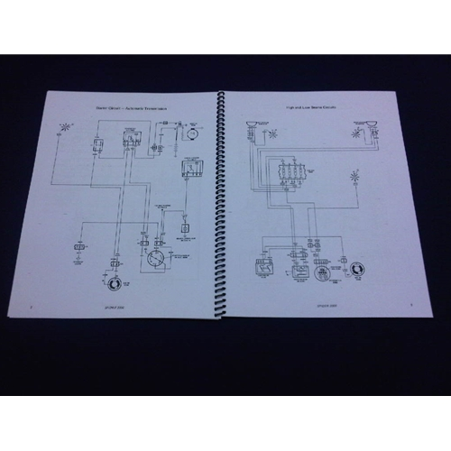 Fiat 124 S-C Wiring Diagrams Manual (Fiat 124 Spider 1977) - NEW