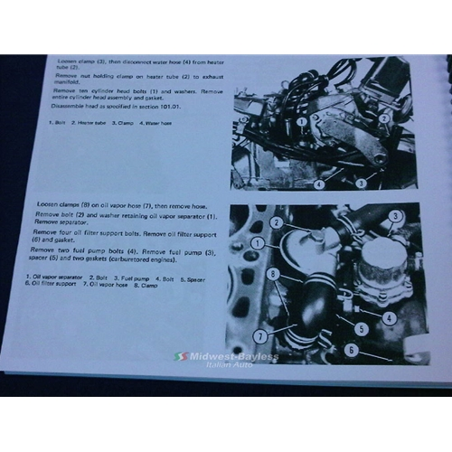 Factory Service Manual (Fiat 124 Spider 1975-85) - NEW