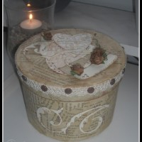 Dekorera en ask med boksidor