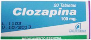 Clozapina antipsicótico medicamento reacciones adversas efectos secundarios