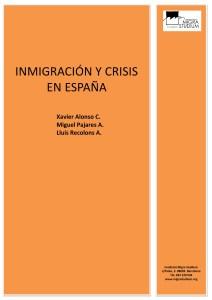 Porada Inmigración y crisis en España