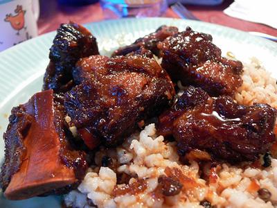 costillas de cerdo con arroz