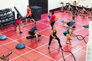 Circuit Training Class in Action