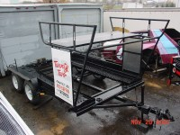 Red Coffin Race Car Trailer