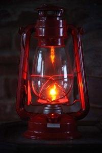 Electric Lantern Table Lamp, RED LANTERN, Electric
