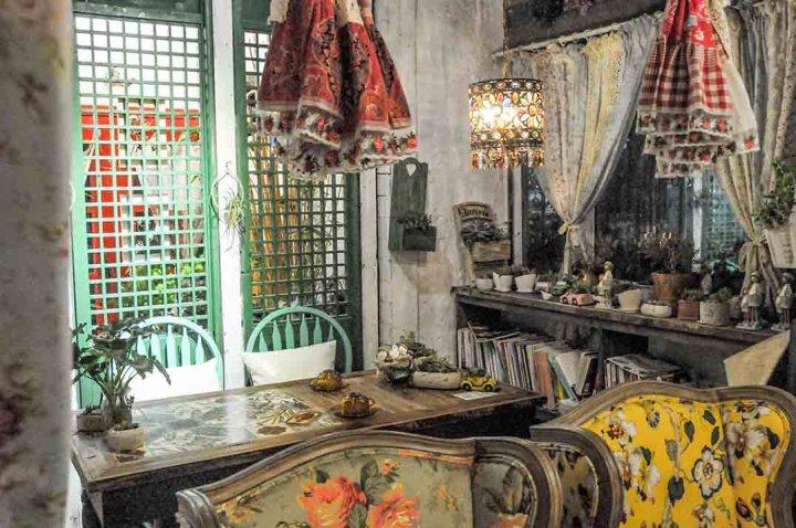 A window table inside Miss Tasha, Nanjing.