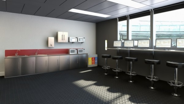 Swissport Welfare Kitchen CGI