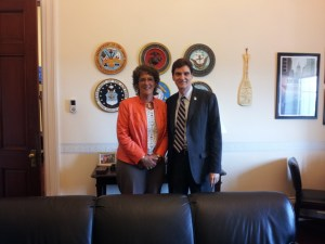 Spag with Congresswoman Jackie Walorski of Indiana for some reason