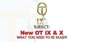 More OT IX & X Nonsense