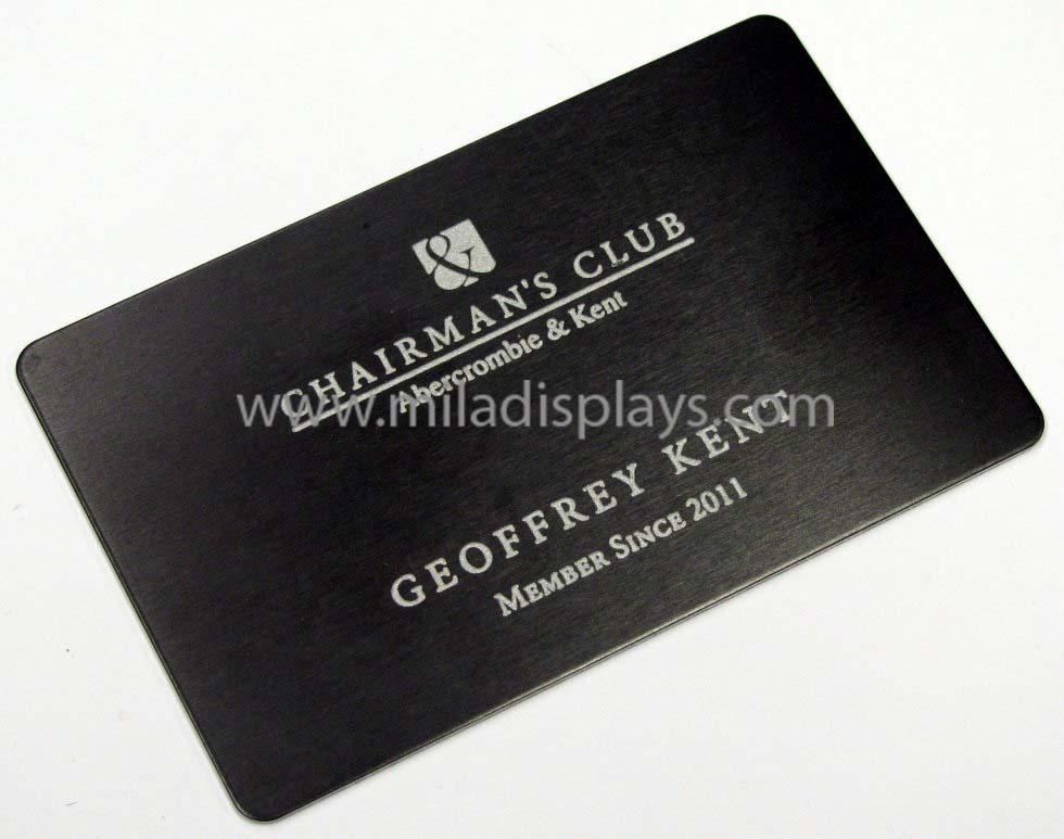 Metal Cards, Brass Cards, Aluminum Cards, Metal Membership VIP Cards