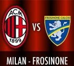 Milan-Frosinone Live Serie A 2015/2016