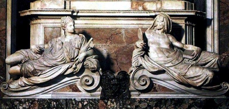 Guglielmo della porta tomba di paolo iii la giustizia e la prudenza www - Lo specchio nell arte ...