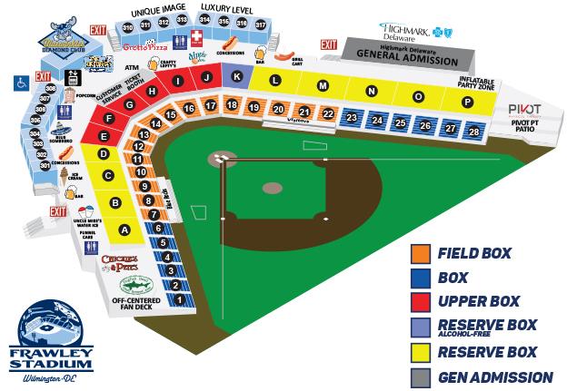 Frawley Stadium Seating Chart Wilmington Blue Rocks Tickets