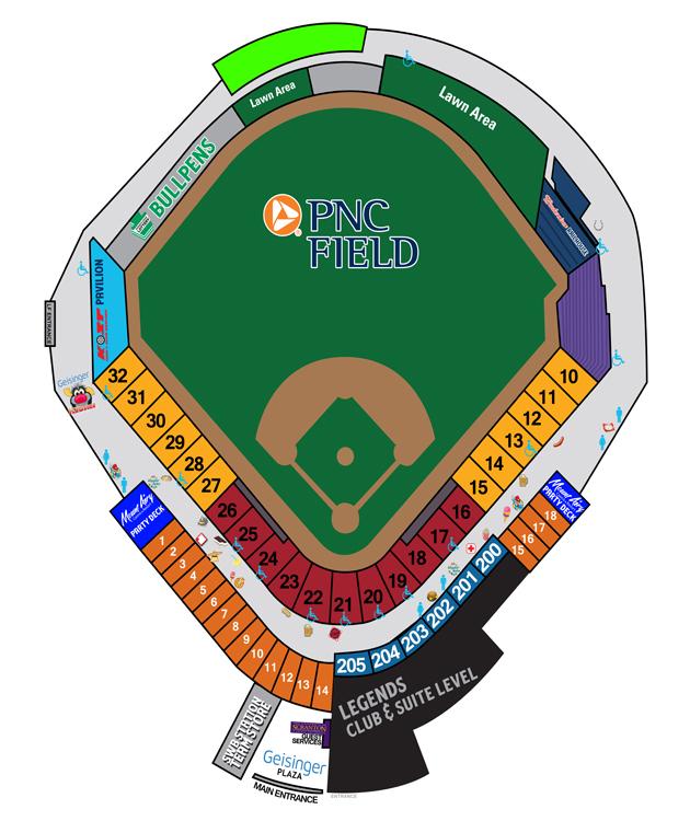 PNC Field Seating Chart Scranton/Wilkes-Barre RailRiders Tickets
