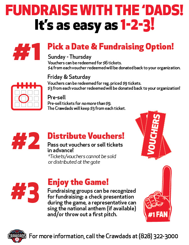 Fundraising with the Crawdads Hickory Crawdads Community/Events