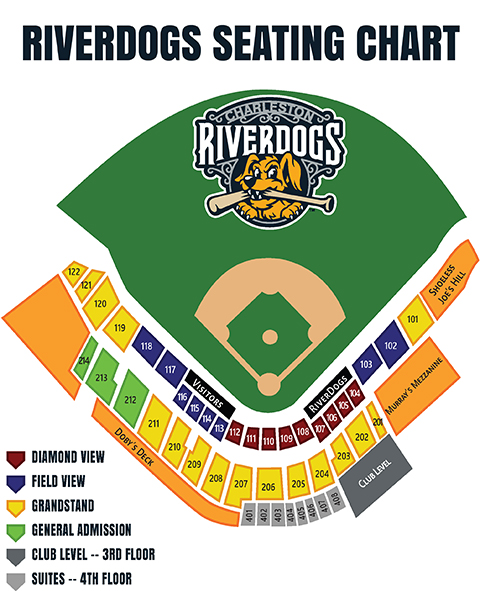Seating Chart Charleston RiverDogs The Joe
