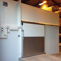 Internal freezer complete with concrete floor & ramp