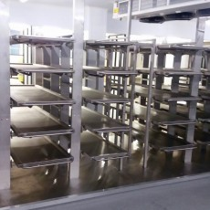 Multiple stainless steel body racking & trays