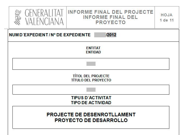 Ejemplo de informe final Modelo de informe final