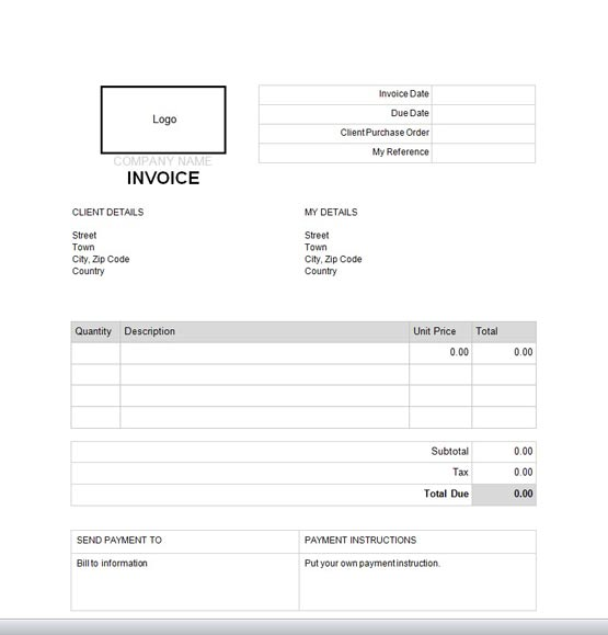 Ejemplo de factura comercial en inglés Facturas en inglés