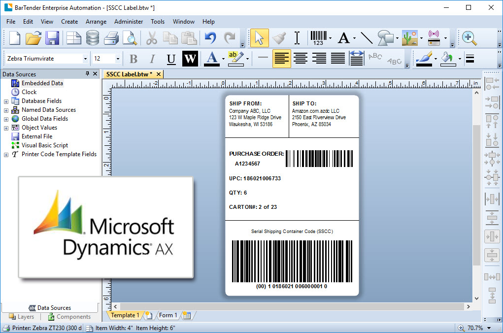 4 Ways to Print Labels from Dynamics AX Miles Data