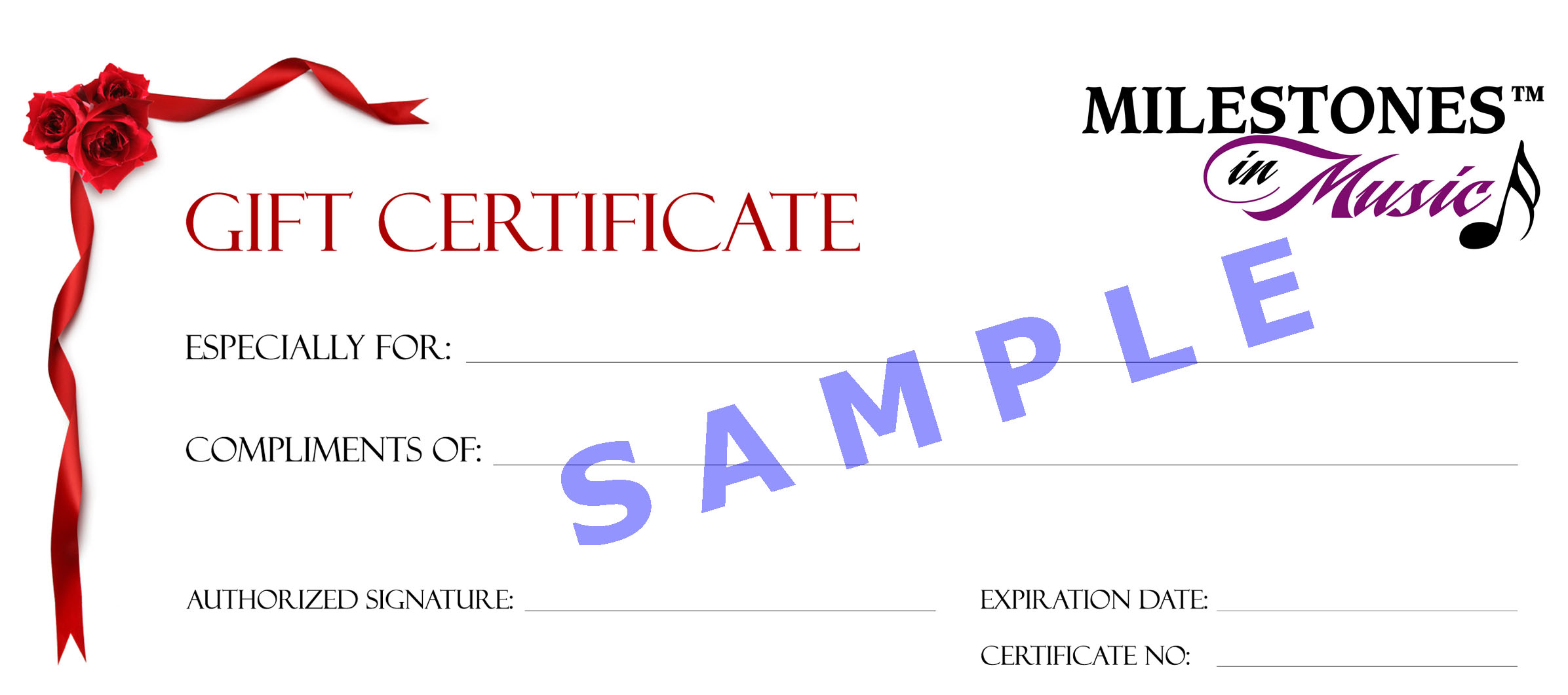 create a gift certificate template – Sample Gift Certificate Template