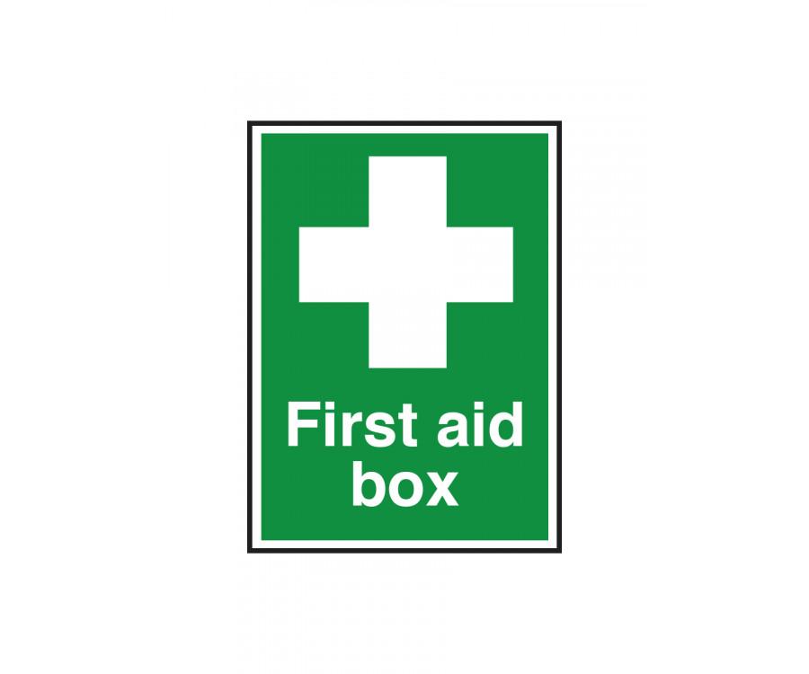 First Aid Box Notice - FA008
