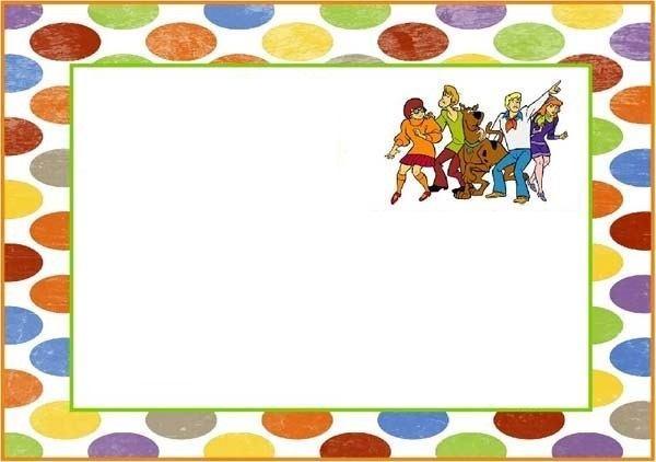 Invitaciones de Scooby Doo para imprimir gratis - plantillas para invitaciones gratis