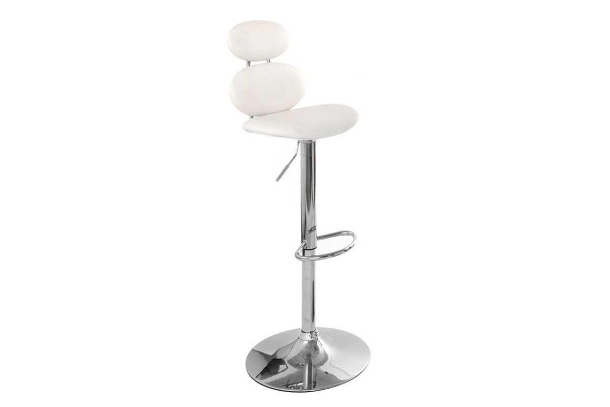 Tabouret de bar design blanc stone soldes