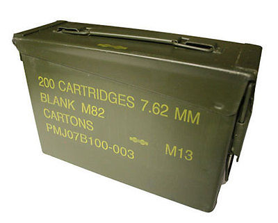 Used Good Government Issue 30 Cal 762 Mm Metal Ammo Box