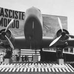 A Fiat plane being displayed at the Milan Fair.