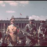 Hitler during the parade celebrating the Legion Condor on its return from Spain