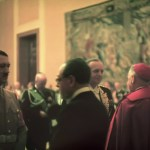 Hugo Jaeger-186 Italy's ambassador to the Vatican Bernardo Attolico in conversation with Hitler at the Chancellery.
